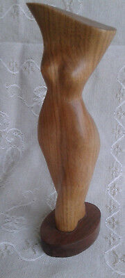 hand carved wooden Female Nude  figure Award Winning Canadian Carver