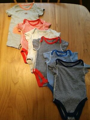 M&S Boys BUNDLE of 5 Short Sleeved Bodysuits and 1 Romper-0-3 months