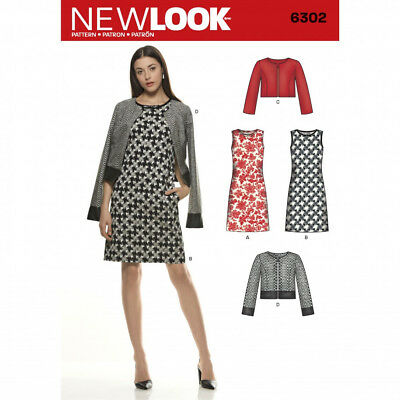 NEW LOOK LADIES Easy Sewing Pattern 6302 Shift Dress & jacket, new ...