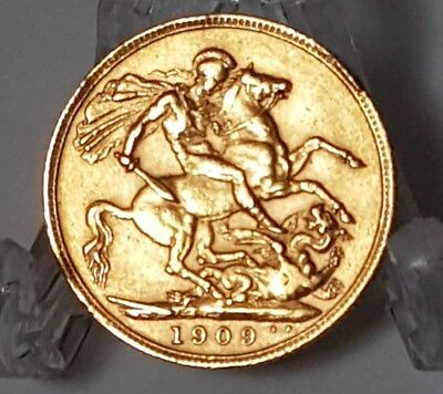 1909 Great Britian Gold Sovereign - .917 Gold - 7.98 Grams - United Kingdom