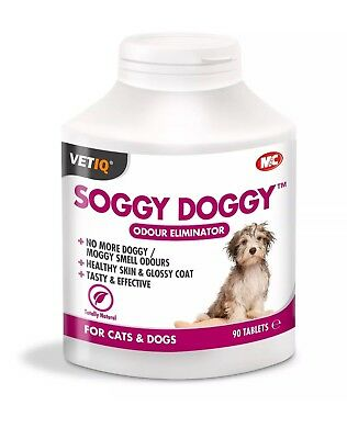 M&C VETIQ Soggy Doggy 90 Tablets Odour Eliminator - Suitable for Cats too