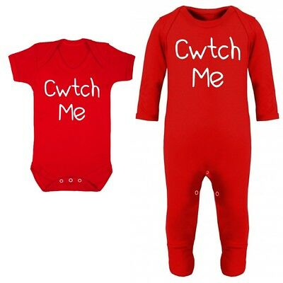 Cwtch Me Baby Vest Grow Funny Wales Welsh Cymru New Mothers Fathers Day Gift