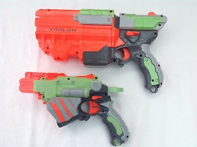Nerf Vortex  Vigilon  And Vortex Proton Toy Disc Guns