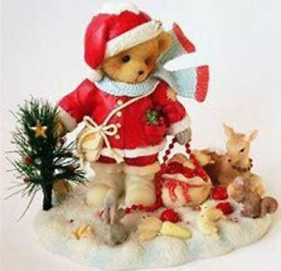 """Cherished Teddies (Christmas)  4005479 Forrester Limited Edition  """"Santa W/ Fore"""