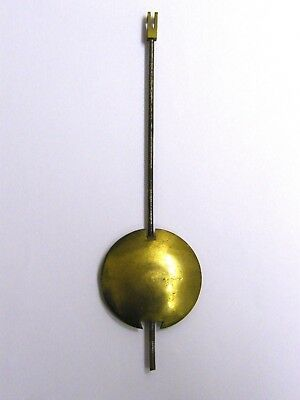 Antique-Victorian-Long Case Clock Brass Pendulum-15 cm-2.6 oZ-circa 1870's