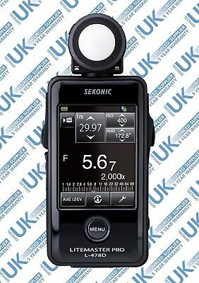 Refurbished Sekonic L-478D Touch Screen LiteMaster Pro Light Meter for Flash