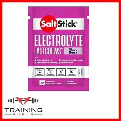 Saltstick Fastchews Tubes Electrolytes Muscle Cramps Hydration (Now in Pouches)