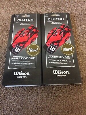 Racquetball Gloves: Wilson Clutch Racquetball Gloves, Right Hand, Size Large....