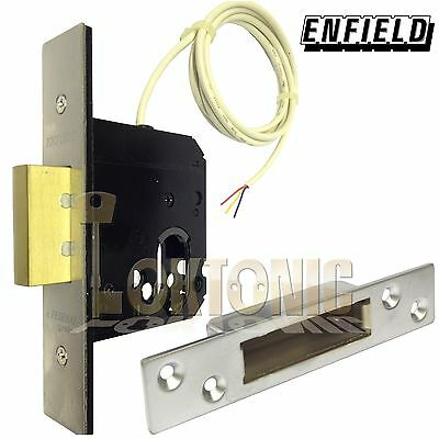 Enfield Mortice Euro Oval Cylinder Deadlock Lock Case With Microswitch
