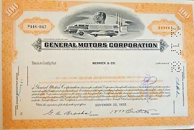 1955 General Motors Corporation Stock Certificate