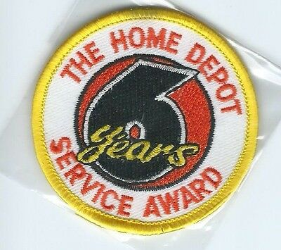 The Home Depot 6 years service award employee patch 2-1/2 dia
