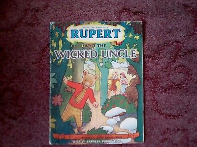 Rupert the bear booklet , well used but fair condition.