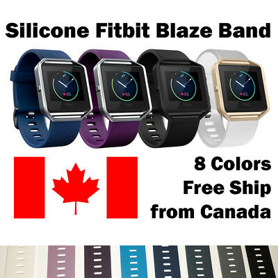 For Fitbit Blaze Band Replacement Wrist Strap Silicone Smart Watch Band Large
