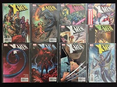 UNCANNY X-MEN Lot of 10 Marvel Comic Books - #444-448 457 458 459 461 462!
