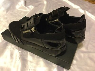 c07b9fb43afa5 MENS GIUSEPPE ZANOTTI Patent & Soft Leather Low Top Sneakers Size 11 ...