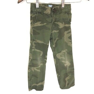 Baby Gap Green Camo Army Jeans Straight Leg Boy's Toddler Size 5 years