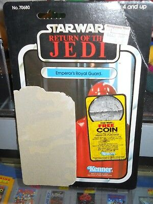 Vintage STAR WARS Return of the Jedi Emperor's Royal Guard Card Board Back 1983