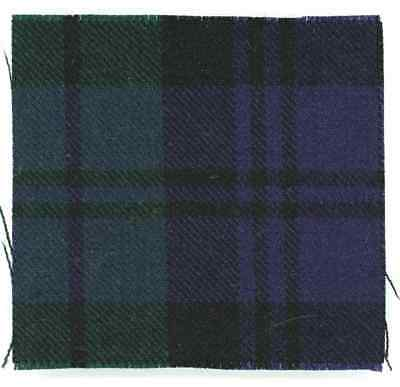 100% Wool Tartan Canadian Black Watch Calgary Lanark Renfrew Highlander Badge