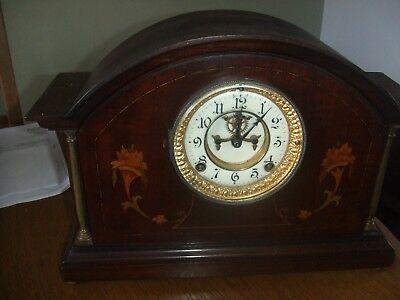 Antique American  Chiming Ansonia 8 Day Mantle Clock Anchor Escapement