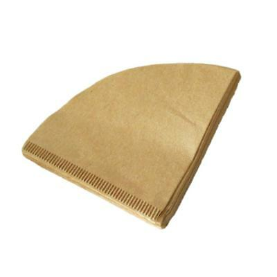 40 Pieces Pack Unbleached Coffee Filter Papers Disposable Drippers Cones 2 Sizes