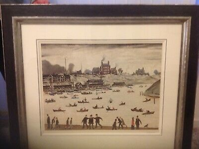L. S. Lowry rare signed limited edition print in excellent condition