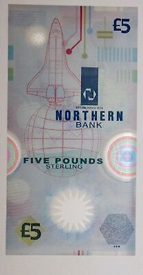 Ireland Northern Bank  POLYMER 5 pound banknote UNC. clean & colorful