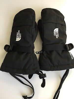 THE NORTH FACE HYVENT Mittens Gloves Black Youth Kids Boys Girls Large