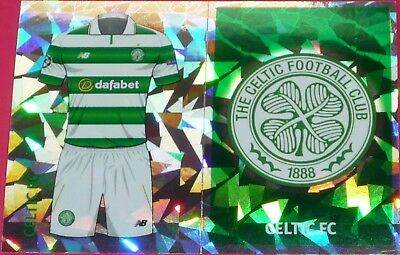 QFB1 QFB2 Celtic FC kit & badge 2016/2017 Topps Champions League Stickers