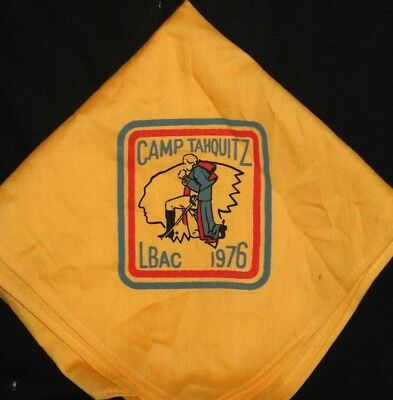 Boy Scouts Camp Tahquitz 1976 LBAC Yellow Neckerchief One Of Many More