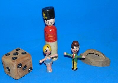 Lot  Of  Antique  Wood  Wooden  Toys  Figures!!
