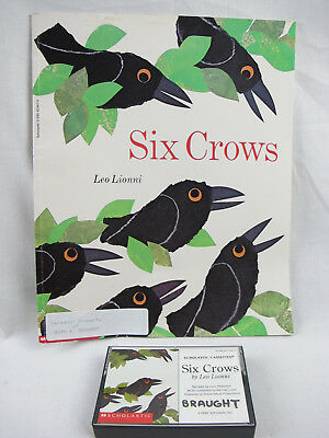 Vintage 1995 Six Crows Children's Book And Cassette Scholastic First Printing