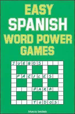 Easy Spanish Word Power Games by Marcia Seidletz 9780844272467 (Paperback, 1992)
