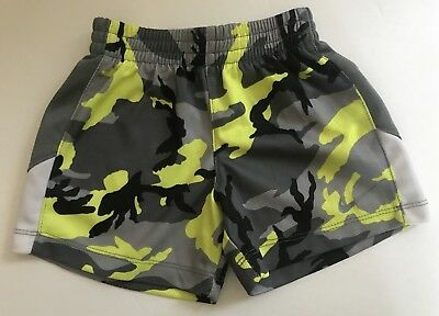 Infant Boy's NIKE Athletic Shorts Black, Yellow & Gray Toddler Size 12 months