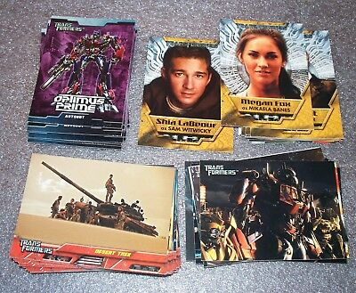 TRANSFORMERS  Complete Trading Card Set   1st Movie    Optimus Prime ++