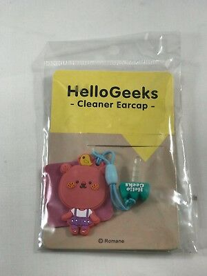 Cute HelloGeeks Port Dust Cover plug Cleaner Ear-cap Decoration Mobile Accessory