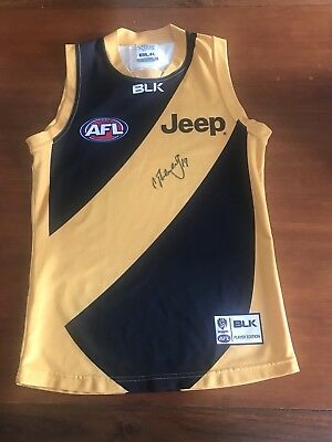 Richmond Tigers Player Edition Matt Thomas 19 Signed Clash Jersey Jumper Size M