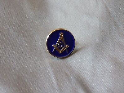 Master Mason Lapel Tac Pin Blue Round Square Compass Fraternity  NEW!