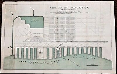 1898 Texas Map SABINE LAND AND IMPROVEMENT COMPANY Extremely Rare Original