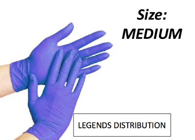 200 pcs Disposable Blue Nitrile Medical Exam Gloves Latex Free Size: Medium