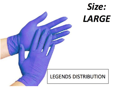 200 pcs Disposable Blue Nitrile Medical Exam Gloves Latex Free Size: Large