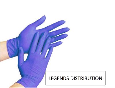 200 pcs Disposable Blue Nitrile Medical Exam Gloves Latex Free Assorted Sizes