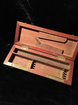 19th C Antique Military Surgical Instrument Wood Box John Weiss & Son, London