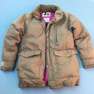 Vintage The North Face TNF 1970s 80s Brown Label Puffer Coat Jacket Worn M ba3f2b589