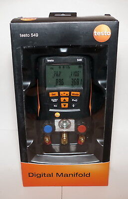 TESTO 549 REFRIGERATION DIGITAL MANIFOLD 0560 0550 -14.7 to 870 PSI HVAC NEW