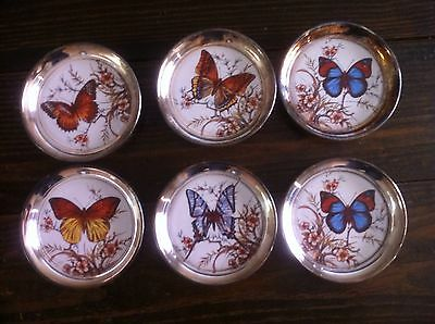 """Silver Butterfly Coaster Set"""" 6pieces """" @ LOW PRICE""""  L@@K"""""""