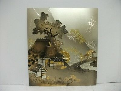 Pure gold, pure silver, a metal engraving product. Old folk house. SYUUH's work