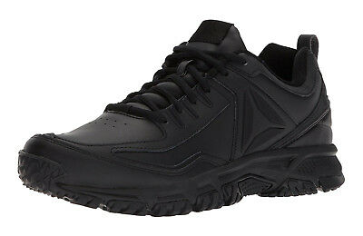 Reebok Ridgerider Black Leather Mens Walking Tennis Shoes Item CN0954