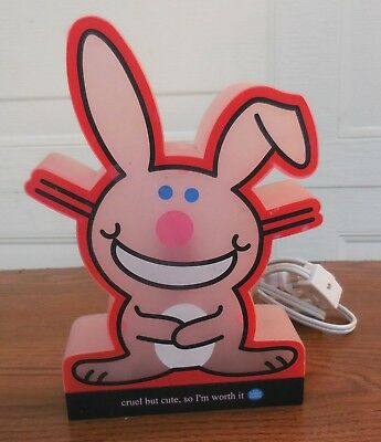 RARE - Jim Benton Happy Bunny Pink Night Light [VHTF] (VGUC)