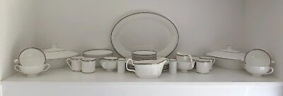 Large Selection of Royal Doulton Platinum Concord china
