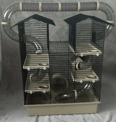 Large Cage for Hamster, Mouse or Gerbil with accessories - beige